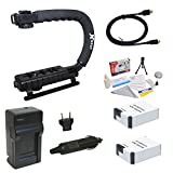 Opteka GoPro HD Hero3 3+ Accessory Kit with (2X) Extended 2000mAh Batteries, AC/DC Battery Charger, HDMI to Micro HDMI Cable, Opteka X-Grip Professional Action Stabilizing Handle and Cleaning Kit
