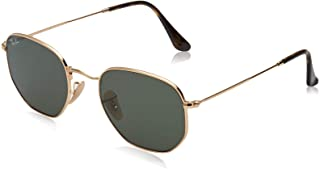 Ray-Ban Men's Flat Lens Sunglasses, Gold/Green, One Size