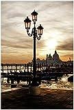 Wallario XXL Poster - Venedig - Lagune bei Sonnenuntergang