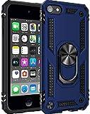 ULAK Funda iPod Touch 7, iPod Touch 5/6 [Grado Militar] Soporte Carcasa con 2 películas Protectoras Híbrido Cubierta de la Suave Resistente a Rayones Caso para iPod Touch 5/6/7 - Azul