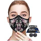 Máscara anticontaminación, anticontaminación, 2 válvulas, antipolvo, antipolvo, máscara facial para motocicleta, ciclismo, correr al aire libre