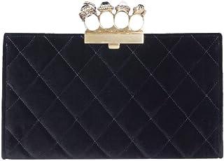 Alexander Mcqueen Women's 570584KR4AT1000 Black Cotton Clutch