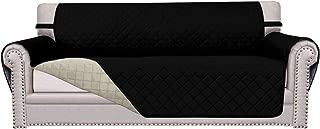 Easy-Going Sofa Slipcover Reversible Sofa Cover Furniture Protector Couch Cover Elastic Straps PetsKidsChildrenDogCat(Sofa,Black/Beige)