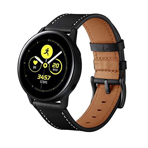 Myada Armband für Samsung Galaxy Watch Active 2 40mm und 44mm Armband Samsung Galaxy Watch 42mm Leder,Armbänder Samsung Gear Sport Armband Garmin vívoactive 3 Lederarmband Gear S2 Classic Ersatzband