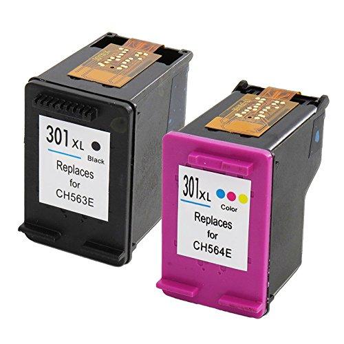 Alta calidad y alta capacidad Compatible Cartuchos de tinta de repuesto para HP 301X L con CHIPS (1BK + 1C)