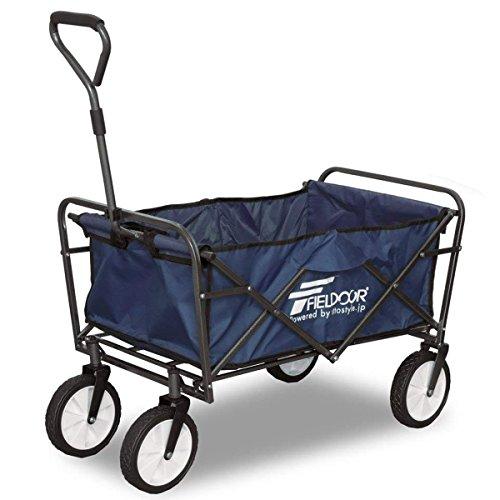 FIELDOOR ワイルドマルチキャリー 【ライト】 ブルー 折りたたみ式多用途キャリーカート 耐荷重150kg アウトドアワゴン