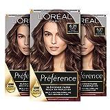 L'Oréal Paris Préférence 6.21 Helles Perlmuttbraun (Zürich) 3er Pack(3 x 183 g) Verpackung kann variieren
