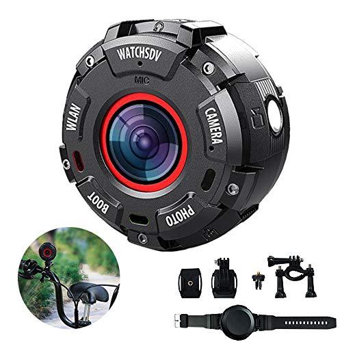Wifi-sportcamera, 30 m onderwatercamera, 8 MP, 1080p fietshelm, HD-camera, sterke magnetische adsorptie, voor een groot aantal outdoor-activiteiten, voor reizen, strand oceaan, vakantie, strand en zomer