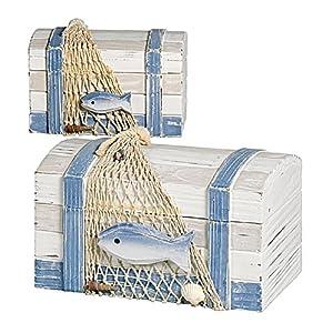 Holzbox maritime Deko 2er-Satz