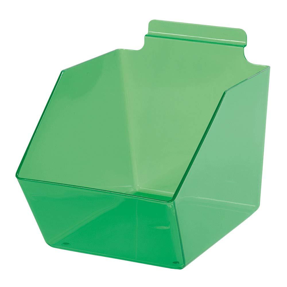 6 x 5 ½ Recommendation 9 inch Clear Green store - Bin Plastic Dump for Slat