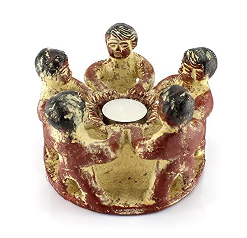 budawi® - Freundeskreis mit 5 Freunden, Handwerkskunst aus Mexiko, Teelichthalter