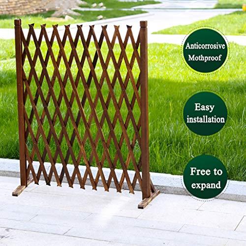 HUAYUAN Gartenzaun Außenkorrosionsschutz Holzzaun Pflanze Kletterhilfs Spalier Innendekoration Haustier Trennwand, Frei Erweiterbar, 4 Größen (Size : 90×240cm)