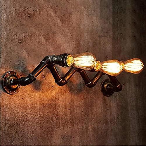 UWY Lampada da Parete Antica Applique da Parete Industriale Applique da Parete Steampunk E27 Edison Creative Decor Light Retro Lanterna da Parete in Ferro battuto per Tubo dell'Acqua per Bar Caf