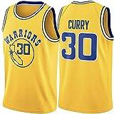 DIMOCHEN Movement Ropa Jerseys de Baloncesto para Hombres, NBA Golden State Warriors # 30 Curry,Fresco, cómodo, Camiseta Uniformes Deportivos Tops(Size:XL,Color:G1)