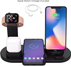 BENA Wireless iPhone Charger, 4 in 1 Charging Station for Apple Watch and Airpods, Charging Station for Multiple Devices, Qi Fast Wireless Charging Stand Compatible iPhone X/XS/XR/Xs Max/8/8 Plus