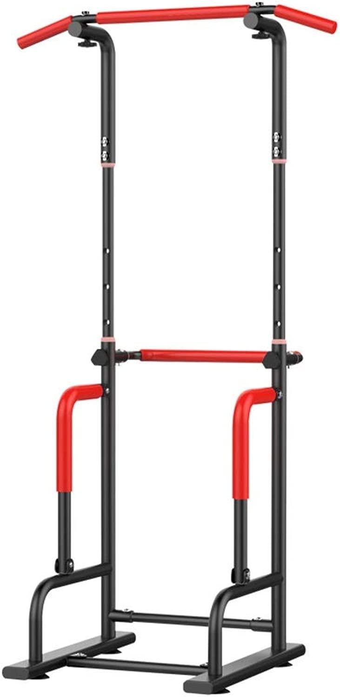 懸垂マシン 多機能大容量ディップホームジム筋力トレーニングヘビーデューティトロリーフィットネスマシン 懸垂器具 (色 : ブラック, サイズ : 95*60*55CM)