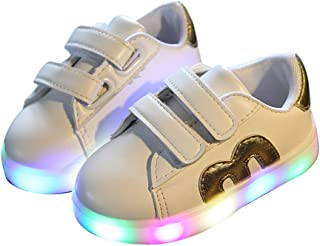 Cute Kids Boys Girls Breathable LED Luminous Light up Shoes Flashing Non-Slip Sneakers