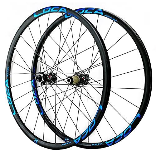 ZCXBHD Oksmsa Juego Ruedas Bici 29/26 / 27.5 Pulgadas Freno De Disco Llantas De Aleación Eje Pasante Ruedas para Bicicletas 8 9 10 11 12 Velocidad (Color : Blue, Size : 29in)