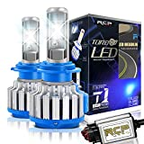 RCP H7 LED Headlight CREE Bulbs Conversion Kits with Canbus, 70W 7200Lm 6000K