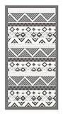Panorama Alfombra Vinílica Azteca Color Gris 40 x 80 cm - Alfombra Cocina Vinilo - Alfombra Salón Antideslizante, Antihongos e Ignífuga - Alfombras Grandes - Alfombras PVC