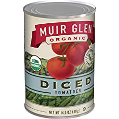 TOMATOES: Whole tomatoes are peeled diced and seasoned lightly with a dash of sea salt. ORGANIC TOMATOES: Grown on organic farms where they are drenched in California sunshine tomatoes are USDA Certified Organic and Non-GMO Project Verified. EASY MEA...