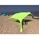 BYJIN Carpa Playa con Ancla de Arena - Portátil Refugio Playa 100% Lycra UPF50+ UV Protection - 2.1m x 2.1m para Niños Bebe Familia Vacaciones