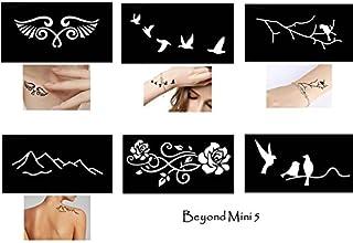 Tattoo Schablonen Vorlagen 6 kleine Sheet Set Mini 5 für He
