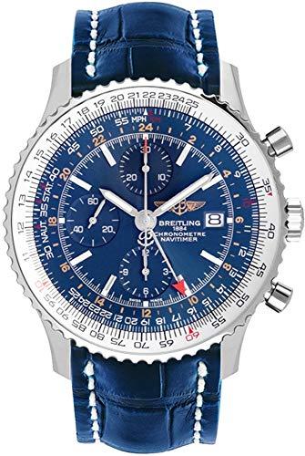 Breitling Navitimer World Herren-Armbanduhr, blaues Zifferblatt, A2432212/C651-746P