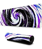 Abstract Colorful Swirl Doodle Gaming Mouse Pad XL,Extended Large Mouse Mat Desk Pad, Stitched Edges Mousepad,Long Non-Slip Rubber Base Mice Pad,31.5X11.8 Inch
