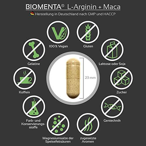 Biomenta L-Arginin und Maca - 5