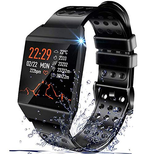 Smart Watch Compatible with iPhone and Android Phones, IP67 Waterproof, Ultra-Long Battery Life, Fitness Tracker Watch with Pedometer Heart Rate Monitor Sleep Tracker, smartwatch for Men Women Kids