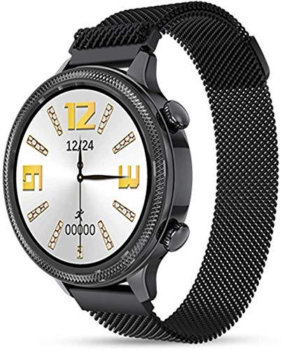 Reloj inteligente pantalla táctil fitness tracker señoras deportes reloj IP67 impermeable monitor de ritmo cardíaco monitoreo del sueño podómetro cronómetro reloj señoras
