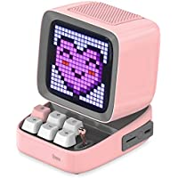 Divoom Ditoo Retro Pixel Art Game Bluetooth Speaker with LED App Controlled Front Screen (Pink)