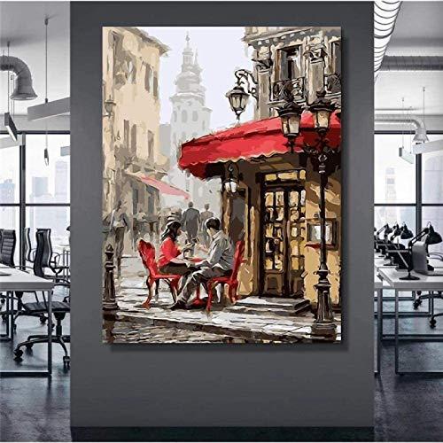 DCPPCPD Lienzo De Impresión 60 * 90cm Sin Marco Cuadro de Pared Carteles de Pareja romántica Imágenes murales para Pared Estilo nórdico