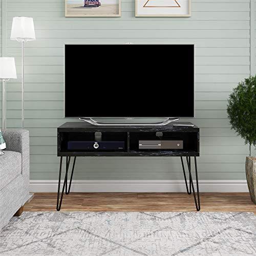 "Novogratz Athena 42"", Black Marble TV Stand"