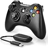 Zexrow Mando inalámbrico Xbox 360, 2.4GHZ Mando de Gamepad Mando a distancia inalámbrico,mando inalámbrico con doble vibración y ergonomía mejorada(incluye un receptor inalámbrico.)