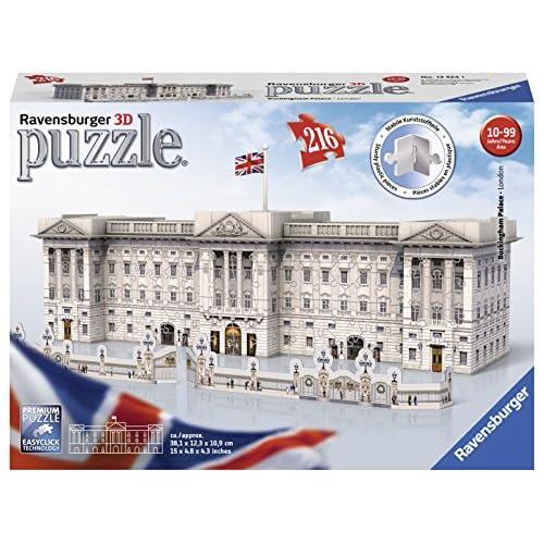 Ravensburger- Buckingham Palace Puzzle 3D, Multicolore, 216 Pezzi, 12524