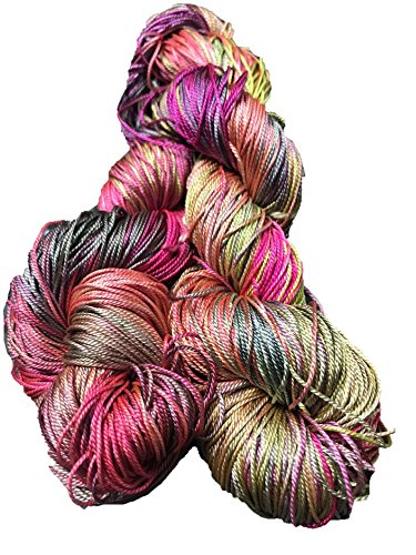 Knitsilk Brand 100% Mulberry Silk Yarn 50 Gram 3 Ply Lace Weight in Unicorn Color | Great for Knitting, Crochet, Weaving, Mixed Media