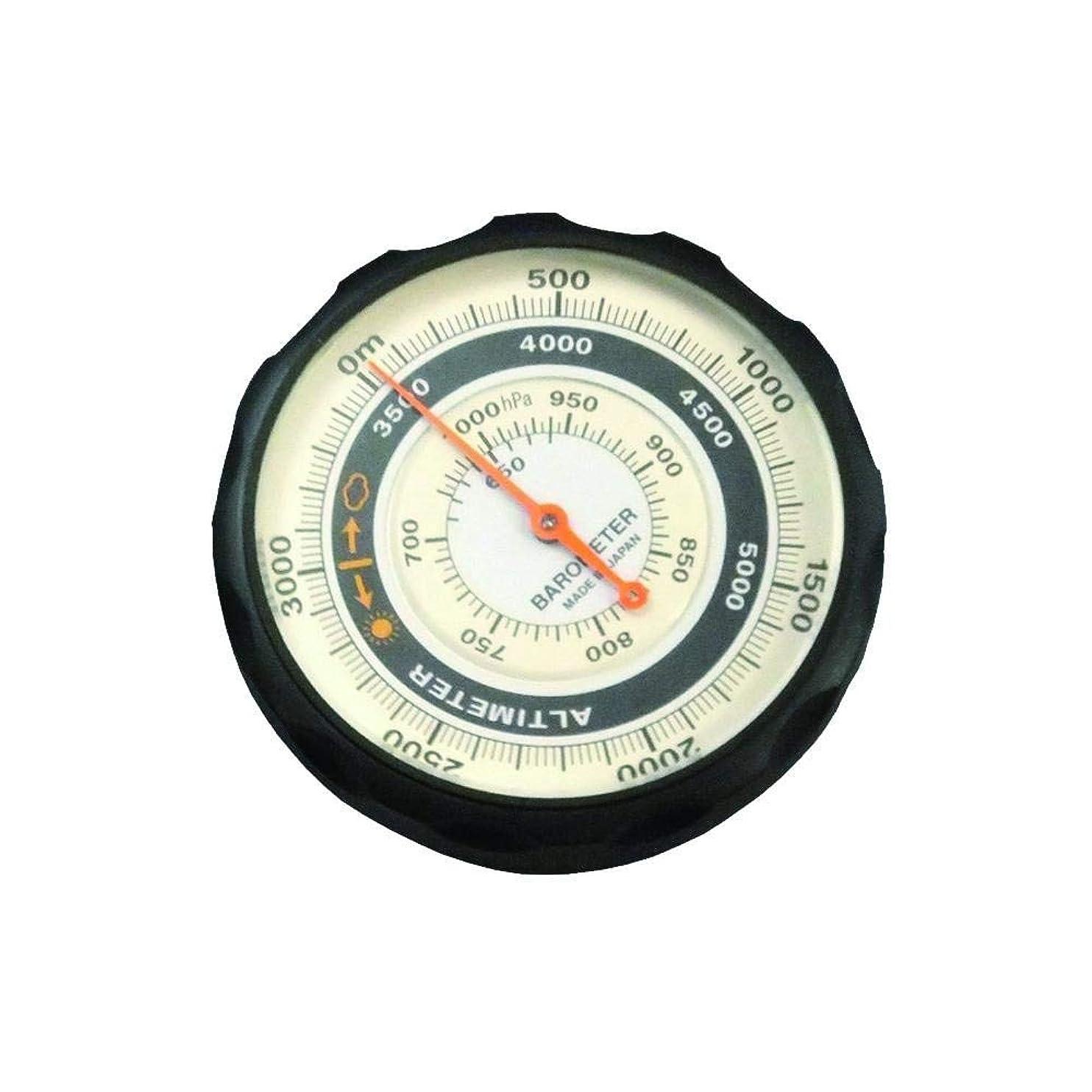 出席マニア通知エバートラスト 気圧表示付高度計 アナログ 天気センサー付き NO.610 ブラック