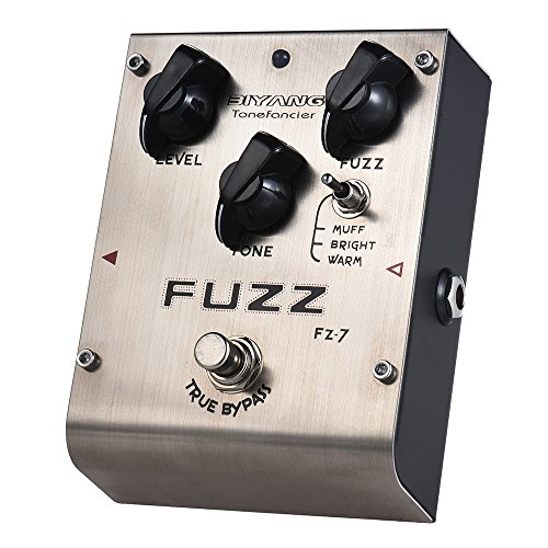 ammoon Fuzz Pedale Effetti per Chitarra 3 Modalità BIYANG FZ-7 Tonefacier Series True Bypass Full Metal Shell