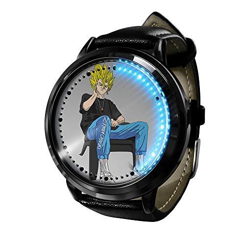 Anime Dragon Ball Z Goku Series Reloj táctil LED Relojes novedosos Relojes Deportivos Reloj Personalizado Relojes de Pulsera Unisex cumpleaños Edición de coleccionista-Negro