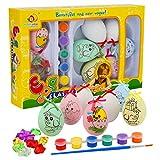 Herefun Uova di Pasqua, Uova di Pasqua di Natale Plastica Uova di Pasqua per Fai da Te Decorazioni la Casa Regali e Altro