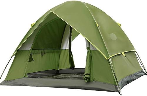 YaNanHome Tente extérieure Tente épaisse Tente Anti-Pluie 2-3 Personnes Tente de Camping randonnée Tente Couple Tente Double Couleur en Option (Couleur   vert, Taille   200  200  135cm)