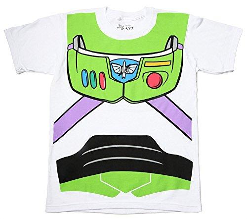Toy Story Buzz Lightyear Astronaut Kostüm weiß Erwachsene T-Shirt Large
