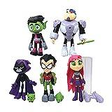 Dondonmin Teen Titans Go Bambole Toy Doll Ragdoll Fumetto Bella Bambola Boys And Girls Bambini Anime Giocattoli for Bambini Bambola Exquisite Unisex Giocattoli (Color : A01, Size : 13cm)