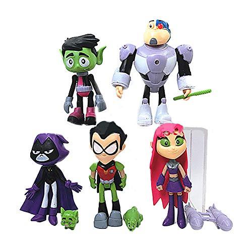 Dondonmin Teen Titans Go Muñecas Juguetes for niños muñeca Exquisita muñeca de Juguete de Dibujos Animados de Ragdoll Precioso Animado de la muñeca Los niños y niñas de los niños Unisex Juguetes