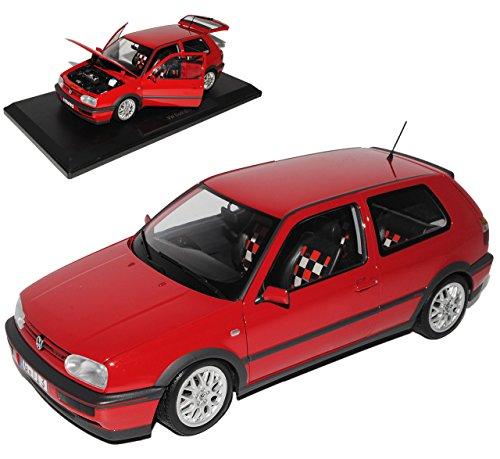 Norev Volkwagen Golf III GTI Rot 3 Türer 20 Jahre Edition 1991-1997 1/18 Modell Auto mit individiuellem Wunschkennzeichen