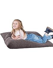 Lounge Pug®, Puff Cama para niños, Pompón - Carbón Gris