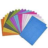 Cizen 20Pz Carta Glitter Adesiva, Fogli Glitterati Carta Glitter A4 per Scrapbooking Fai da Te Decorazioni Foglio Adesivo Glitterata - 10 Colori