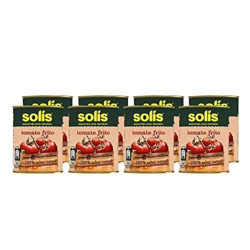 SOLIS Tomate Frito Lata - Pack de 8 x 140g - Tomate Sin Gluten